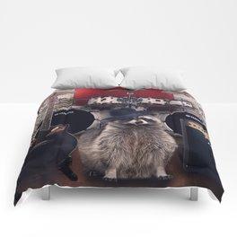 raccoon rock Comforters