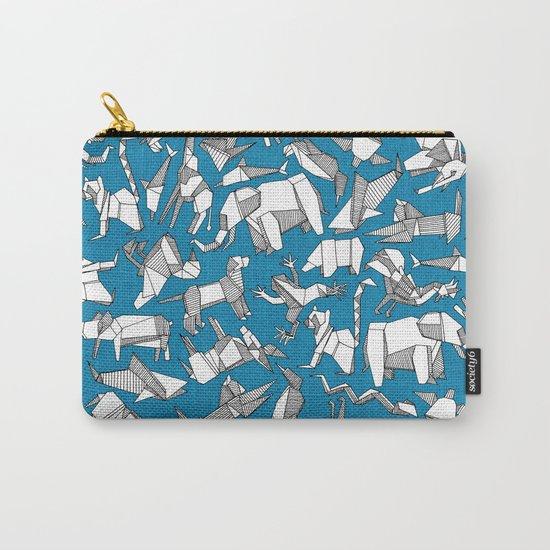 origami animal ditsy blue by sharonturner