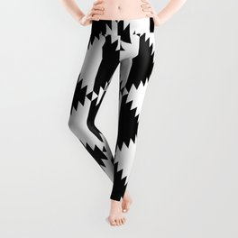 Aztec 3 B&W Leggings