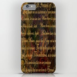 The Prayer of St Francis of Assisi iPhone Case