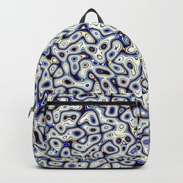 Abstract fractal blue marbleized psychedelic plasma Backpack