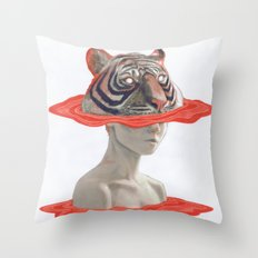 TIGER GIRL Throw Pillow