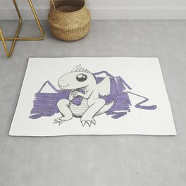 Baby Dragon Hoards Carnival Tickets Rug