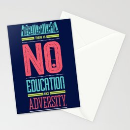 Lab No. 4 Education Like Adversity Benjamin Disraeli Inspirational Quotes Stationery Cards