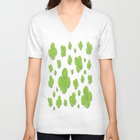 clover V-neck T-shirts featuring Clover by Trip79