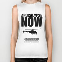 apocalypse now Biker Tanks featuring Apocalypse Now Move Poster by FunnyFaceArt