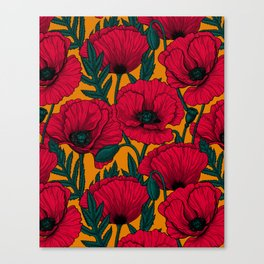 Red poppy garden    Canvas Print