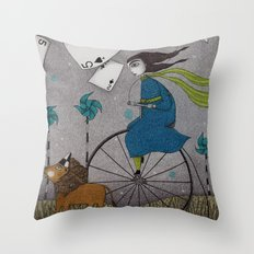 I Follow the Wind Throw Pillow
