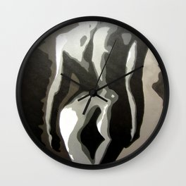 Abstract Female Silhouette Sepia toned Shadows Light study Wall Clock