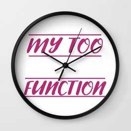 Too Tired To Function Lazy Person Gift Wall Clock