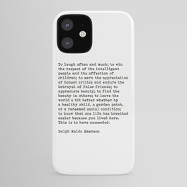 To Laugh Often And Much, Success, Ralph Waldo Emerson Quote. iPhone Case