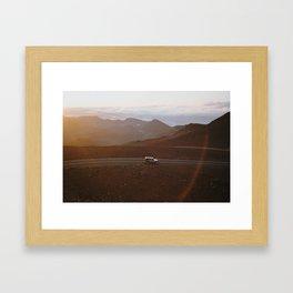 Sunrise above the clouds 2 Framed Art Print