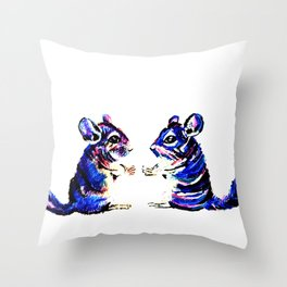 When Acrylic Chinchilla meets Colour Pencil Chinchilla Throw Pillow
