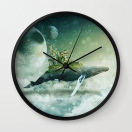 Flying kingdoms Wall Clock