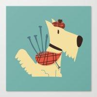 terrier Canvas Prints featuring Scottish  Terrier - My Pet by Picomodi