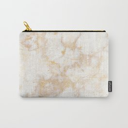 Gold Marble Natural Stone Veining Quartz Carry-All Pouch