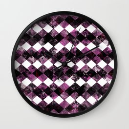 Purple Diamonds I Wall Clock