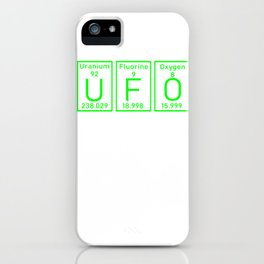 UFO Roswell element conspiracy theory gifts iPhone Case