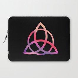 Purple Tie Dye Triquetra Laptop Sleeve