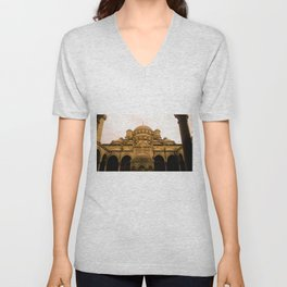 Mosque from above. Unisex V-Neck