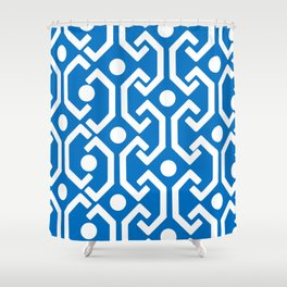 Ethnic Pattern (Blue) Shower Curtain