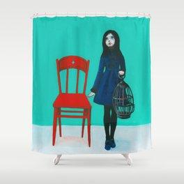 A Blue Bird Shower Curtain
