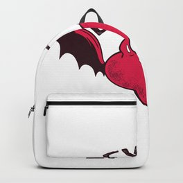 Devilish heart with Teufelshoernern Backpack