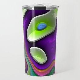 Vivid colorful shiny shapes Travel Mug