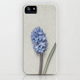 One Light Blue Hyacinth iPhone Case