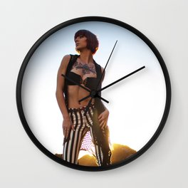 Taylor Brynne - Stripes Wall Clock