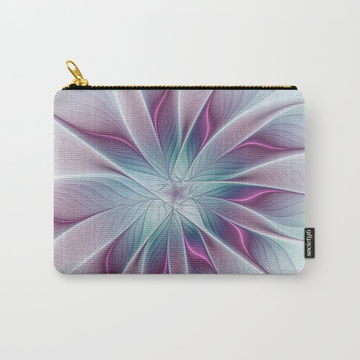 Floral and Luminous, abstract Fractal Art Carry-All Pouch
