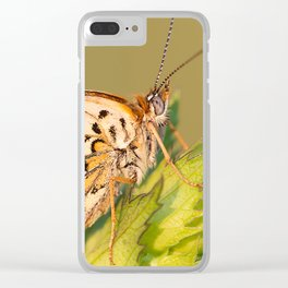 Knapweed Fritillary Clear iPhone Case