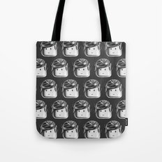 Minifigure Pattern - Dark Grey Tote Bag