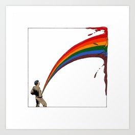 Ability to pee rainbows Art Print