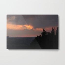 mountain sunset - telluride, colorado Metal Print