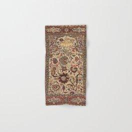 Safavid Silk Metal-Thread Persian Rug Print Hand & Bath Towel
