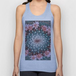 Cactus with Pink Flowers Unisex Tank Top