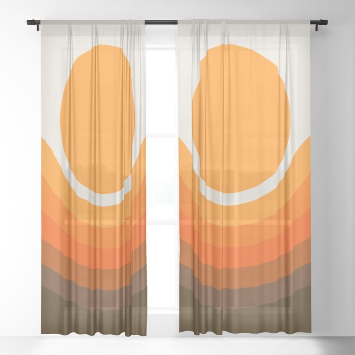 Golden Canyon Sheer Curtain
