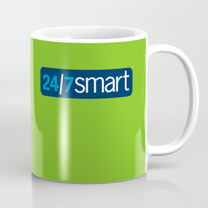 24/7 SMART in lime green Coffee Mug