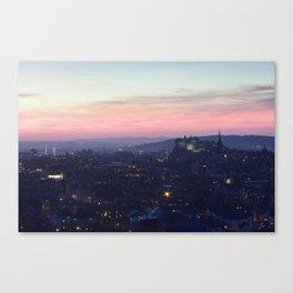 Edinburgh Castle at Sunset Canvas Print
