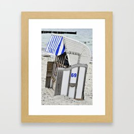 Beach Chair 69 on the Baltic Sea Framed Art Print