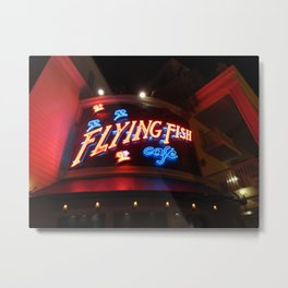 The Flying Fish Cafe Sign Metal Print