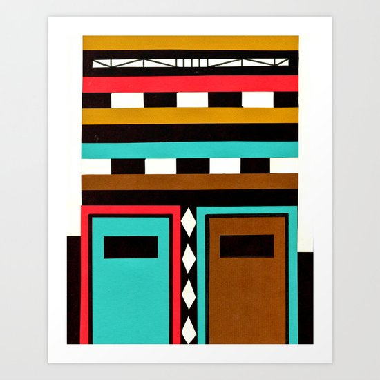 Tribe Mask Art Print