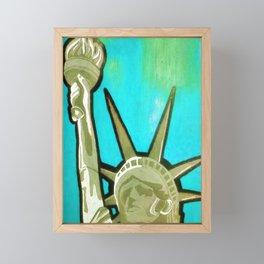 Pop Liberte bleu Framed Mini Art Print