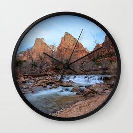 Virgin River Falls - Zion Court Wall Clock