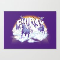 friday Canvas Prints featuring Friday! by littleclyde