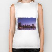 brooklyn bridge Biker Tanks featuring Brooklyn Bridge by hannes cmarits (hannes61)