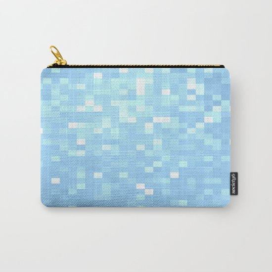 Blue Pixels Carry-All Pouch
