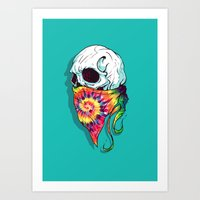 hipster lion Art Prints featuring Hipster by Steven Toang