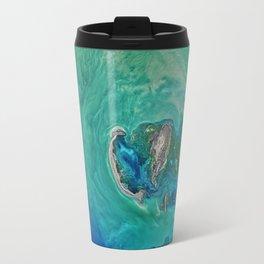 Blue Ocean Map Print Travel Mug